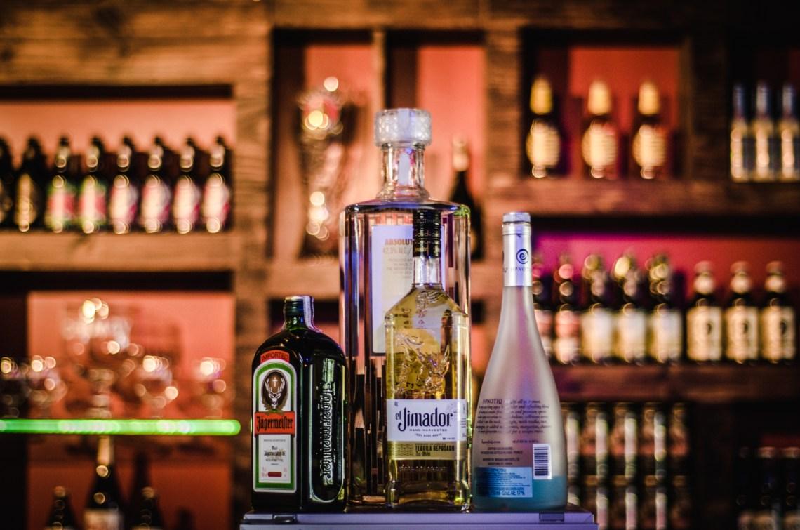 Four Assorted Liquor Bottles