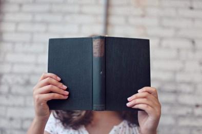 blur, book, girl