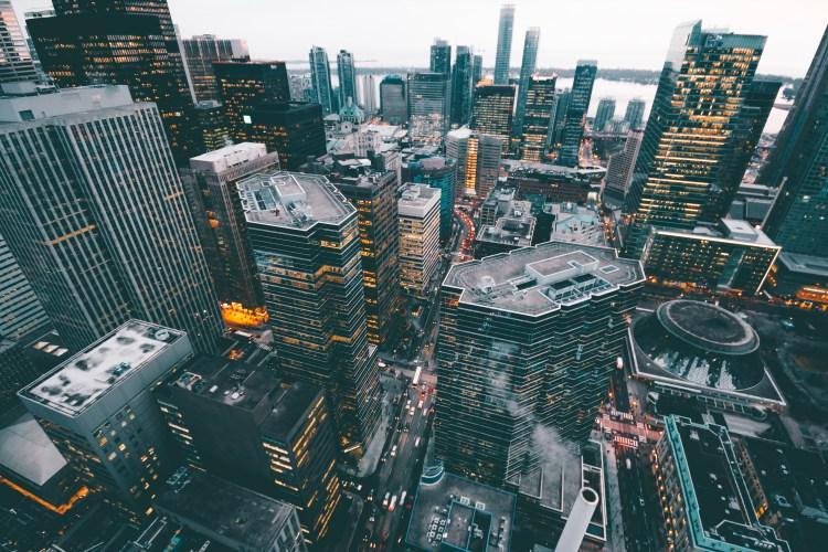 Free stock photo of city, bird's eye view, sky, skyline