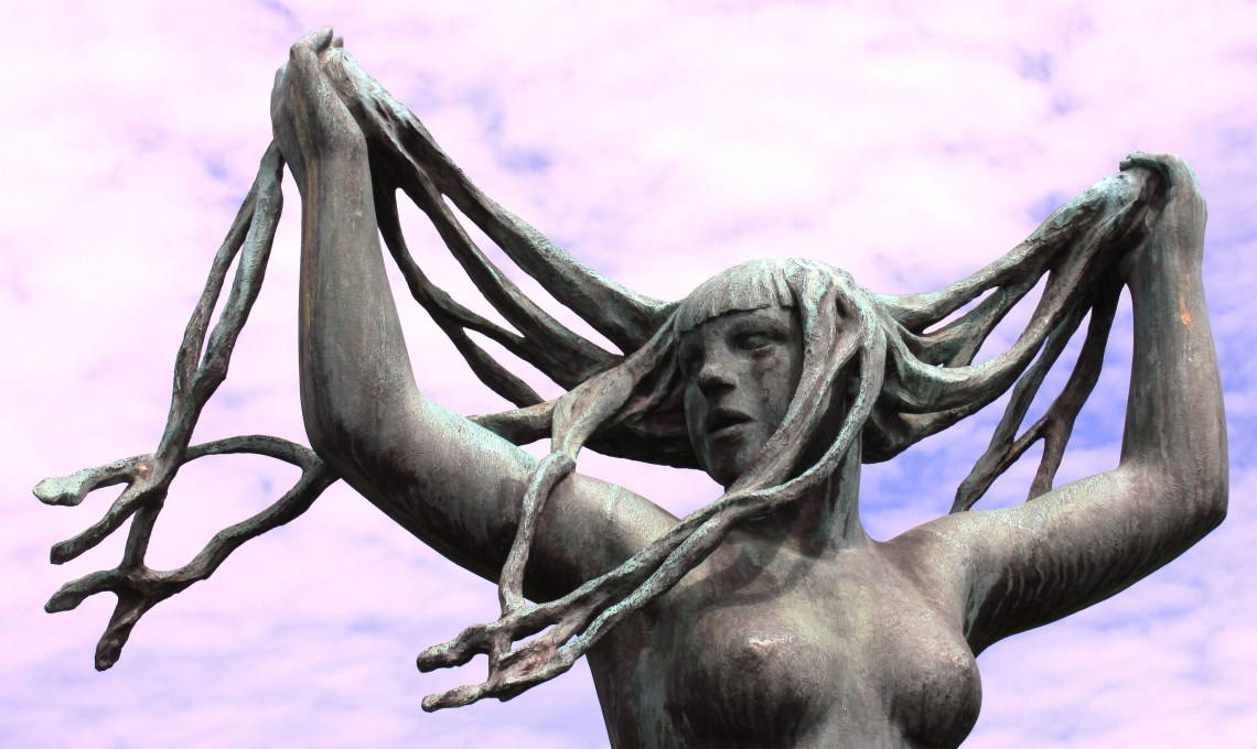 White Women Rock Statue