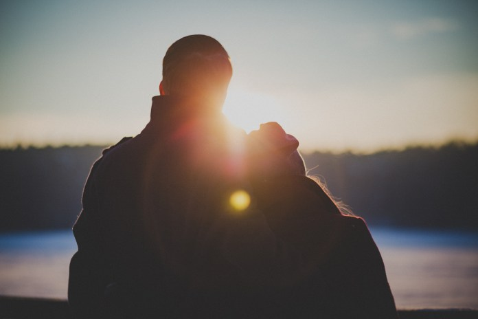 couple, date, lens flare