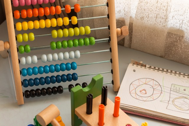 Abacus for dyslexia and dyscalculia treatment