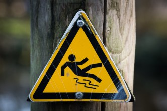 caution, sign, slippery