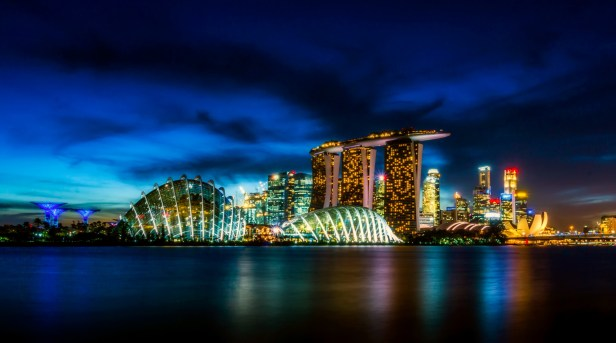 Photo of Singapore during Night Time