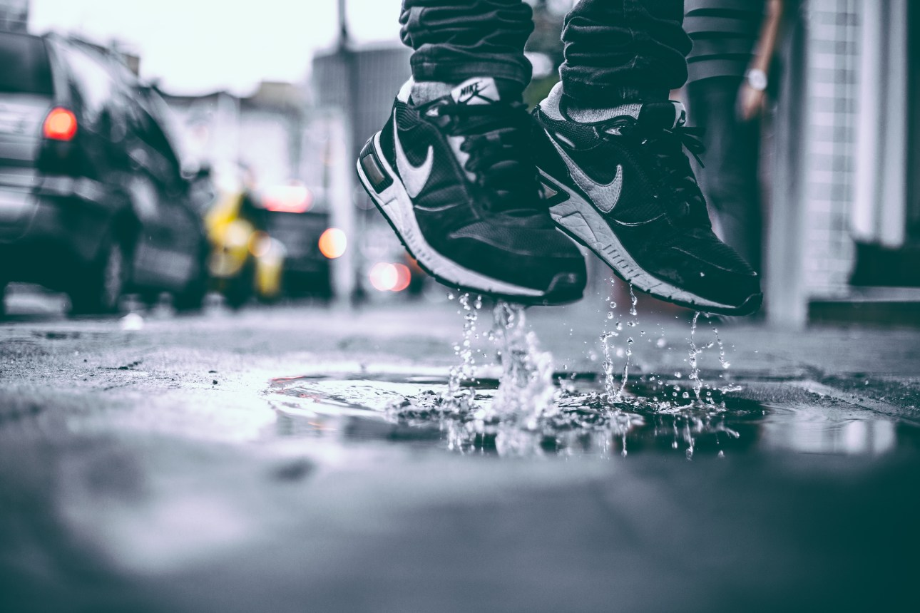 after the rain, jump, jumping