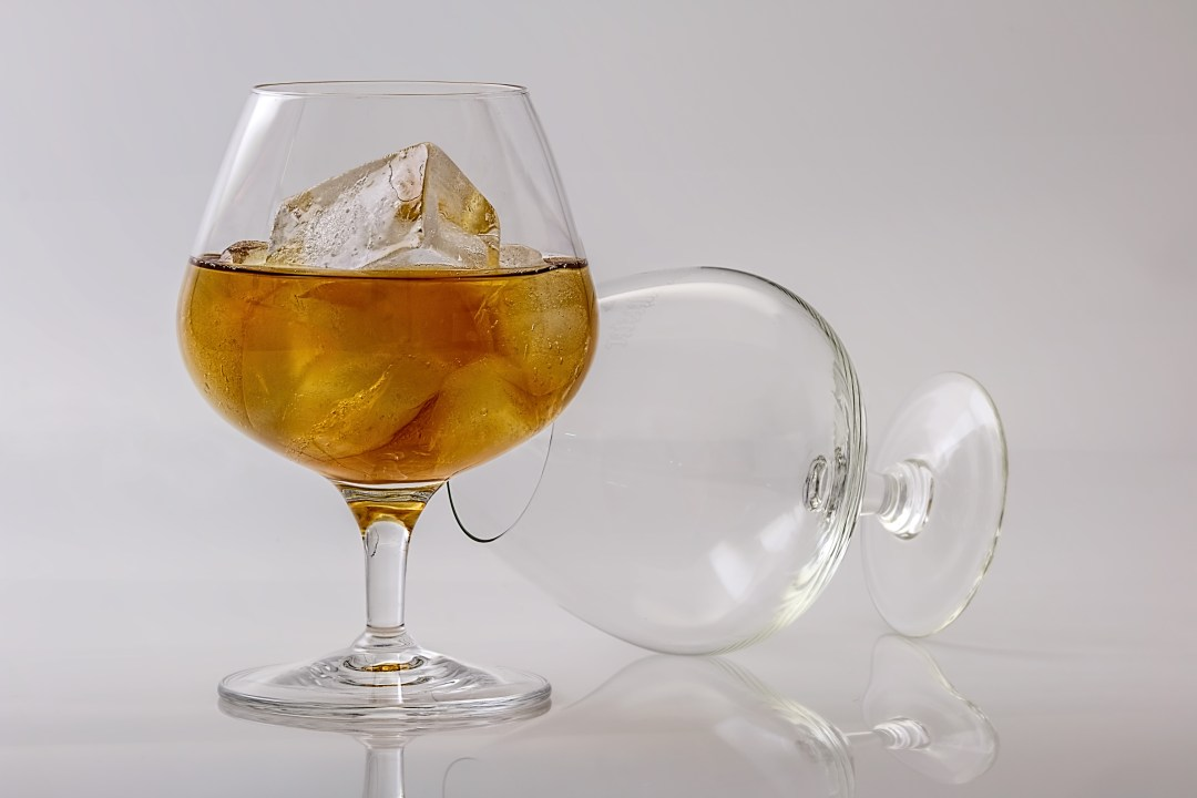 cognac on a glass