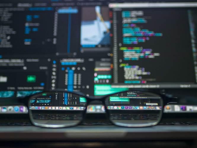 Free stock photo of blur, computer, eyewear, macro