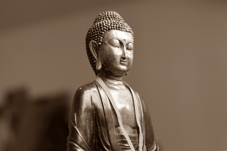 Brown Ceramic Chinese Figurine