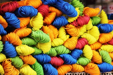 Assorted Color of Yarn during Daytime