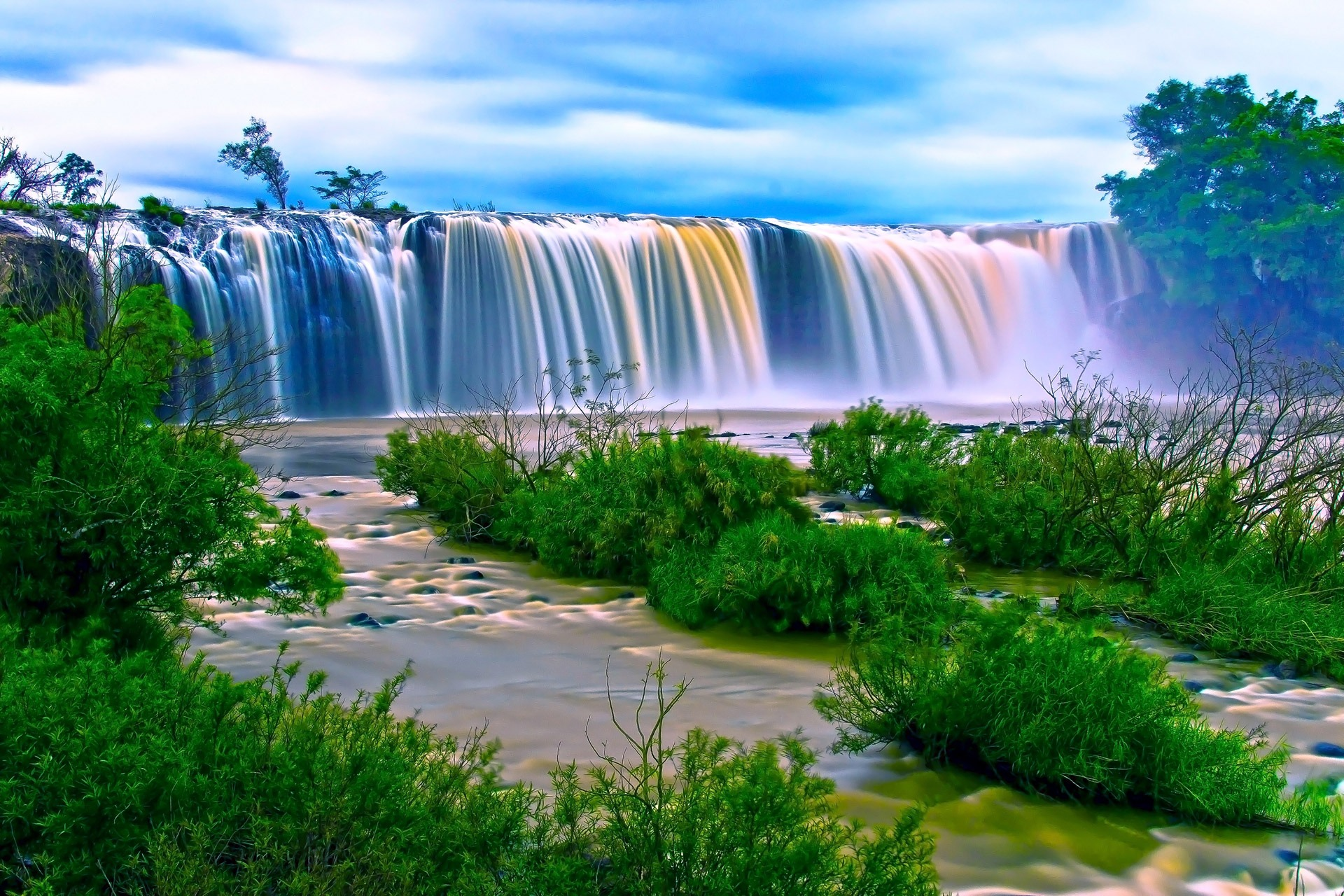 Nature Wallpapers      Pexels      Free Stock Photos Water Falls Surrounding Green Grass during Daytime