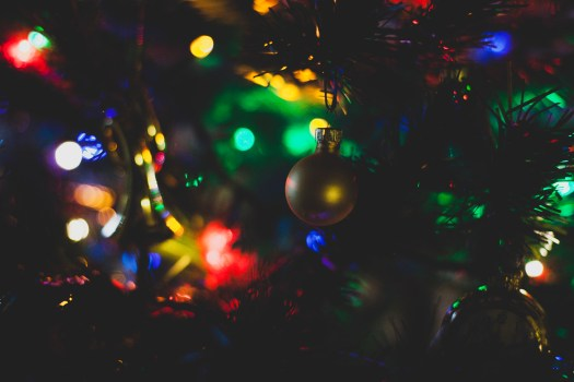 Closeup Photography of Christmas Bauble Hanging on Tree