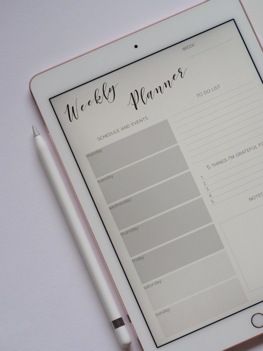 weekly planner on ipad