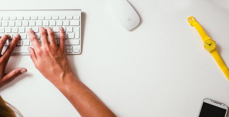 desk, keyboard, typing