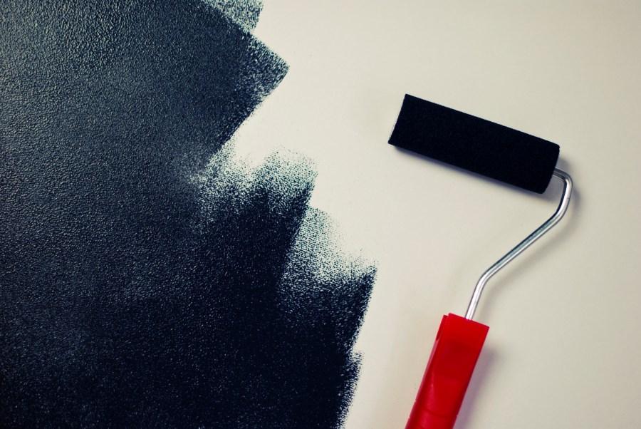 black, color, paint