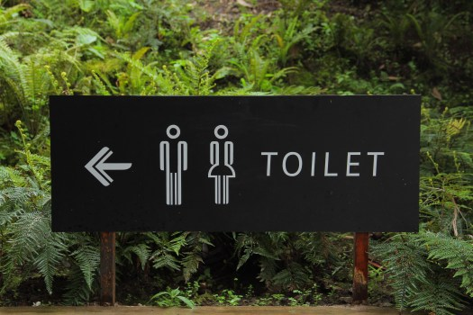 Toilet Signage, toilet wheel sign