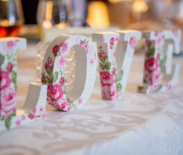 White And Pink Floral Freestanding Letter Decor  C2 B7 Rovenimages Com