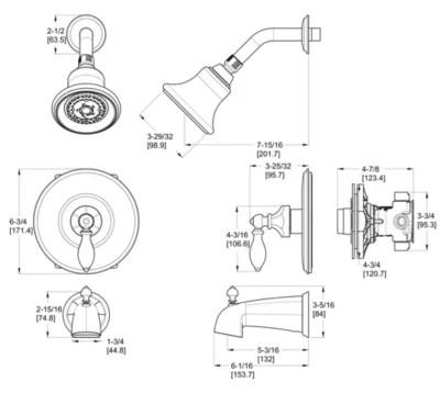 catalina 808 epbk 1 handle tub shower