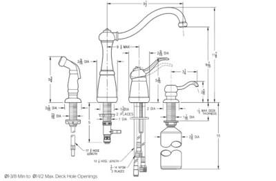 1 handle kitchen faucet pfister faucets