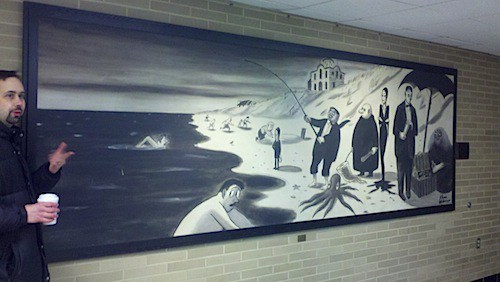 The hidden history of Penn State's Addams Family mural