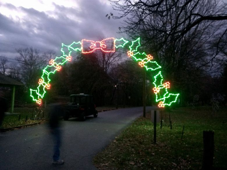 holiday lights in the park to open for season on sunday november 18 with family holiday stroll lebtown - Drive Through Christmas Lights Pa