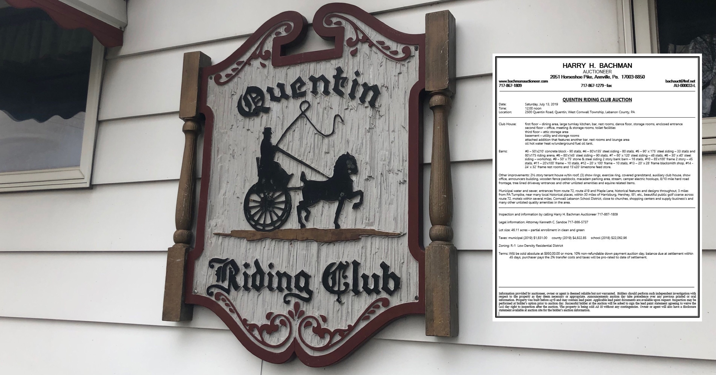 Quentin Riding Club planned for auction