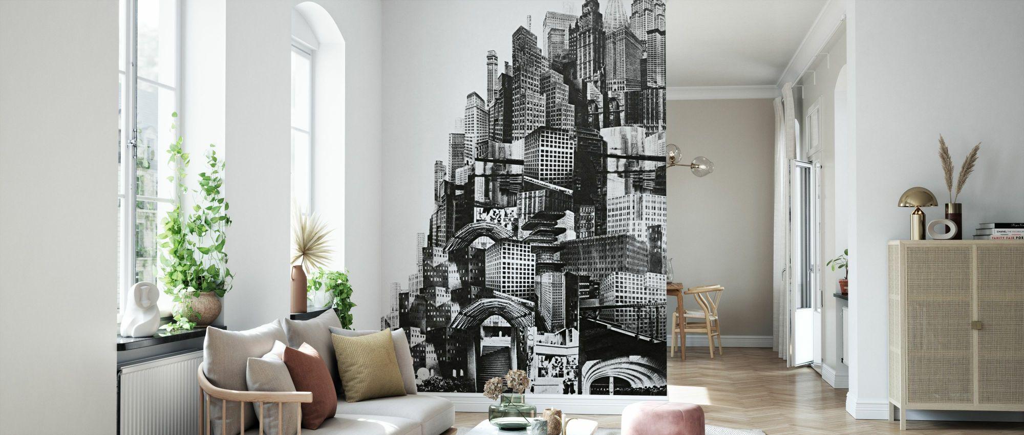 Descrizione design by studio agena. Metropolis Fotomurale Su Misura Photowall