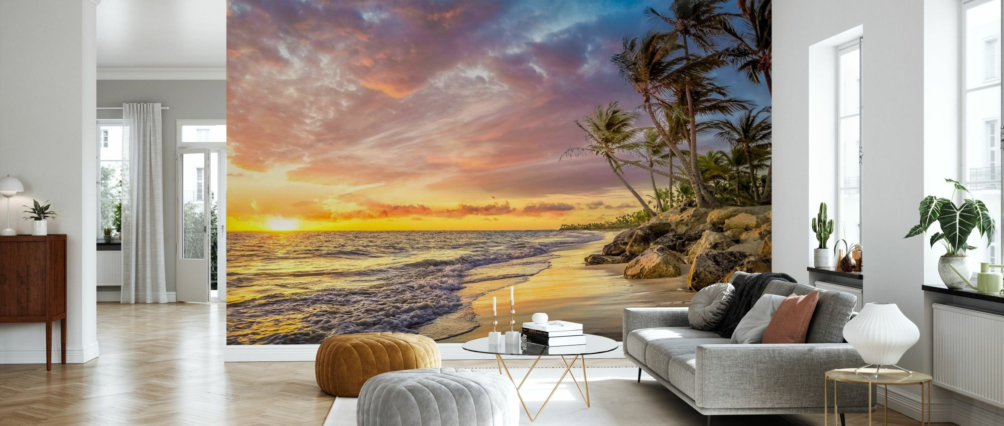 Fotomurale komar road | poster per parete national geographic. Palm Tree In Sunset Fotomurale Su Misura Photowall