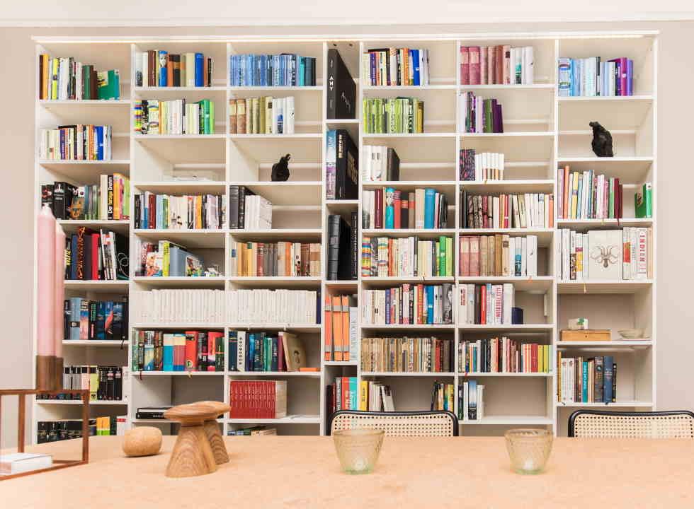 bibliotheque sur mesure en bois massif