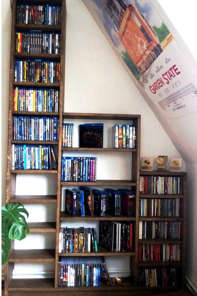 bibliotheque escalier sur mesure creez