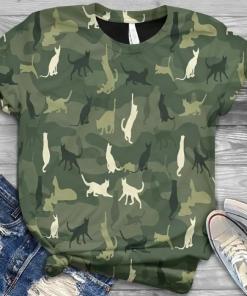 Cat In Green Camo s unisex, hoodie, sweatshirt