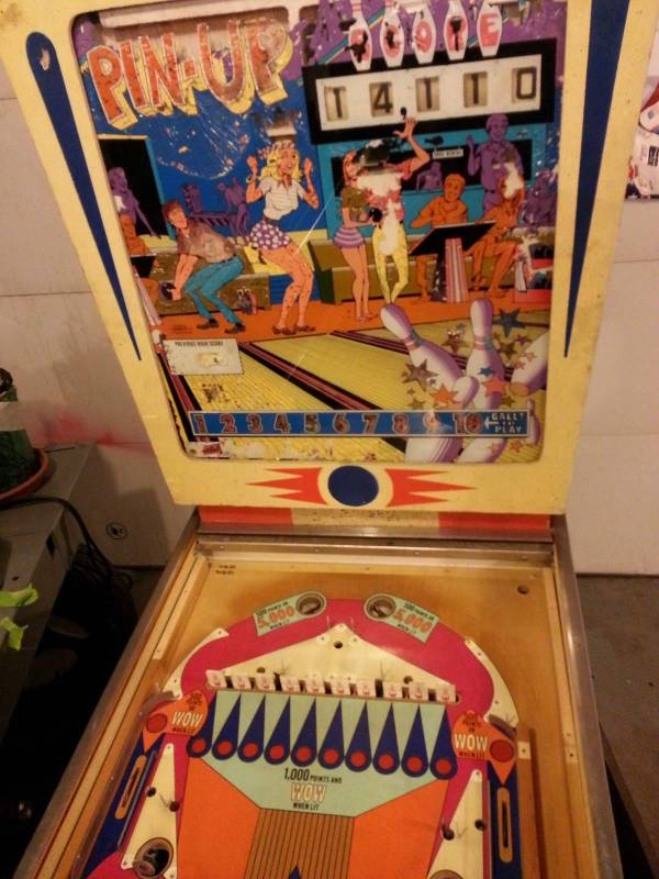 Pin Up reproduction backglass available | EM Pinball ...