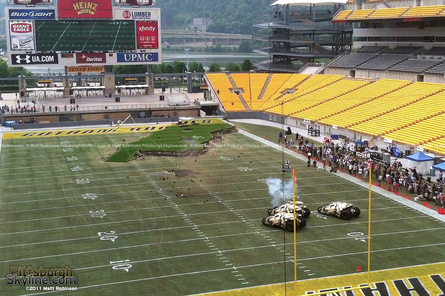 Tumbler fires a warning shot at Gotham Stadium (Heinz Field)