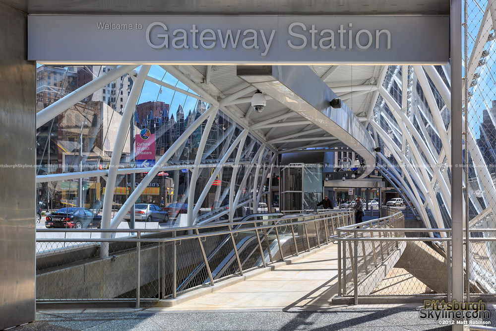 The new Gateway Station entrance