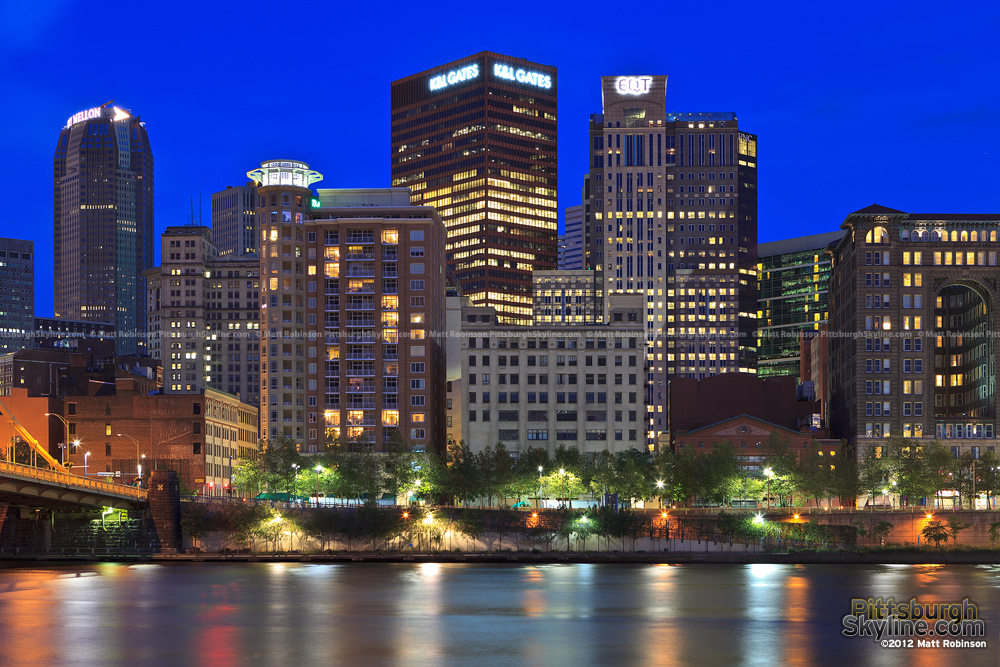 Downtown Pittsburgh from across the Allegheny River