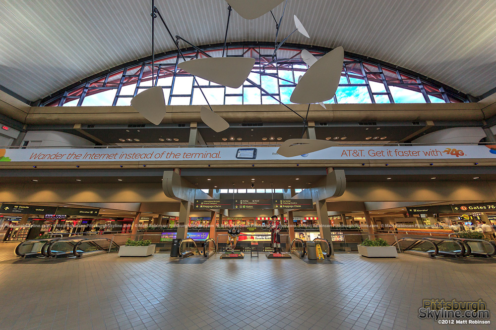 Early Morning inside Pittsburgh International Airport Terminal