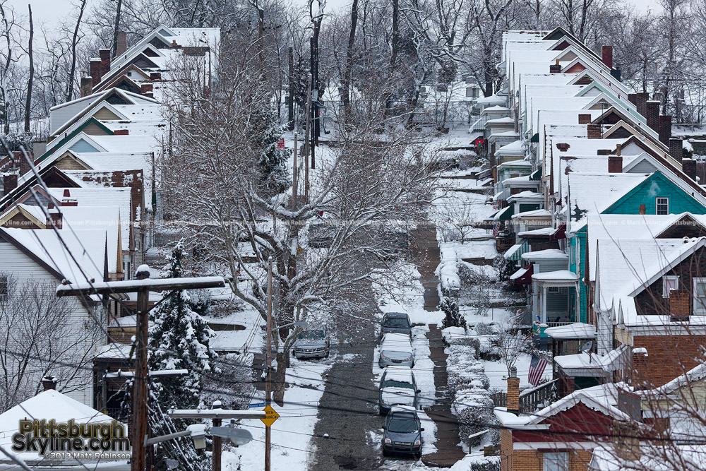 Elliot Houses with snow