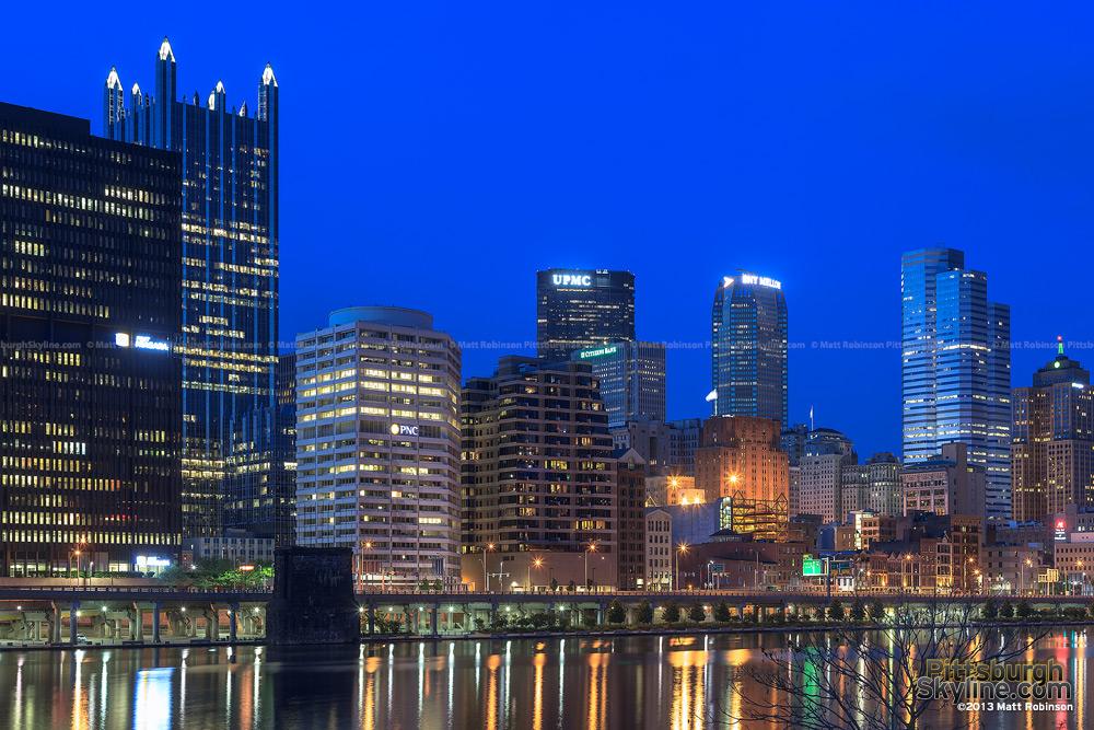 Pittsburgh skyline from Highmark Stadium