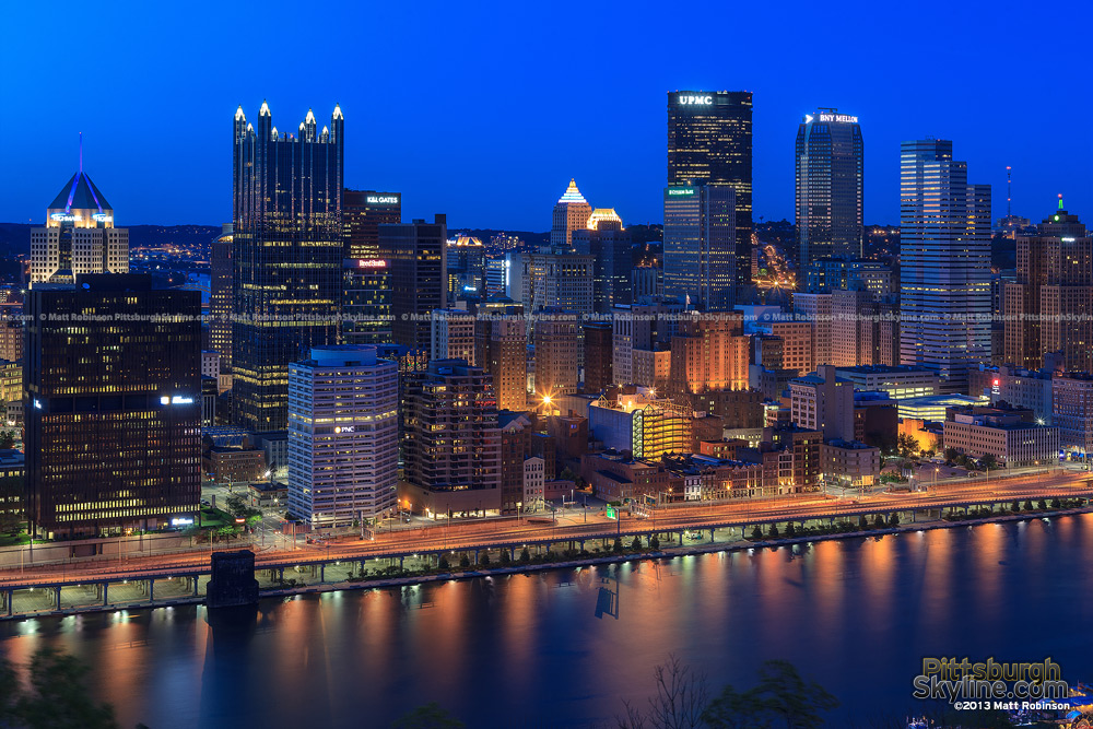 Pittsburgh from Mt. Washington at night