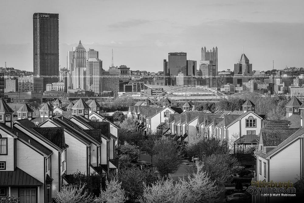 Black and White Pittsburgh Washington's Landing