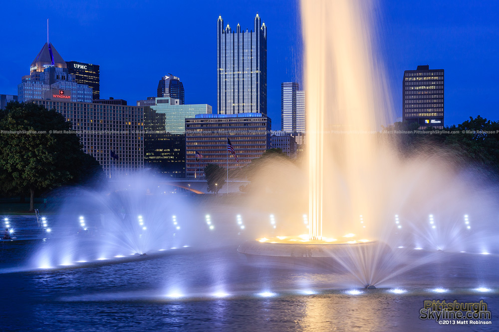 PPG Place with the fountain at the point