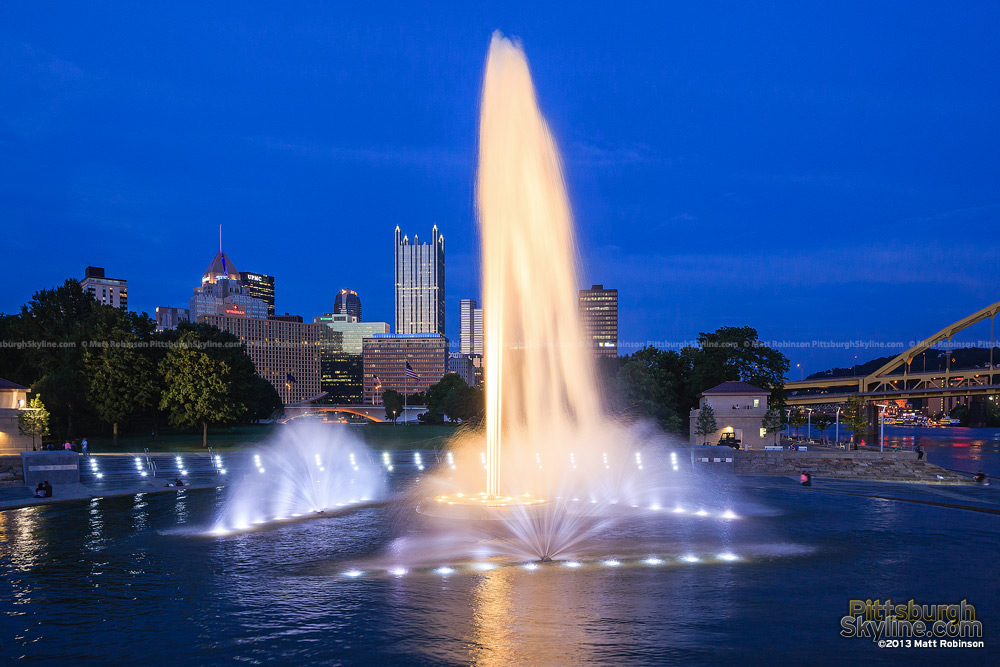 New and improved fountain at the point