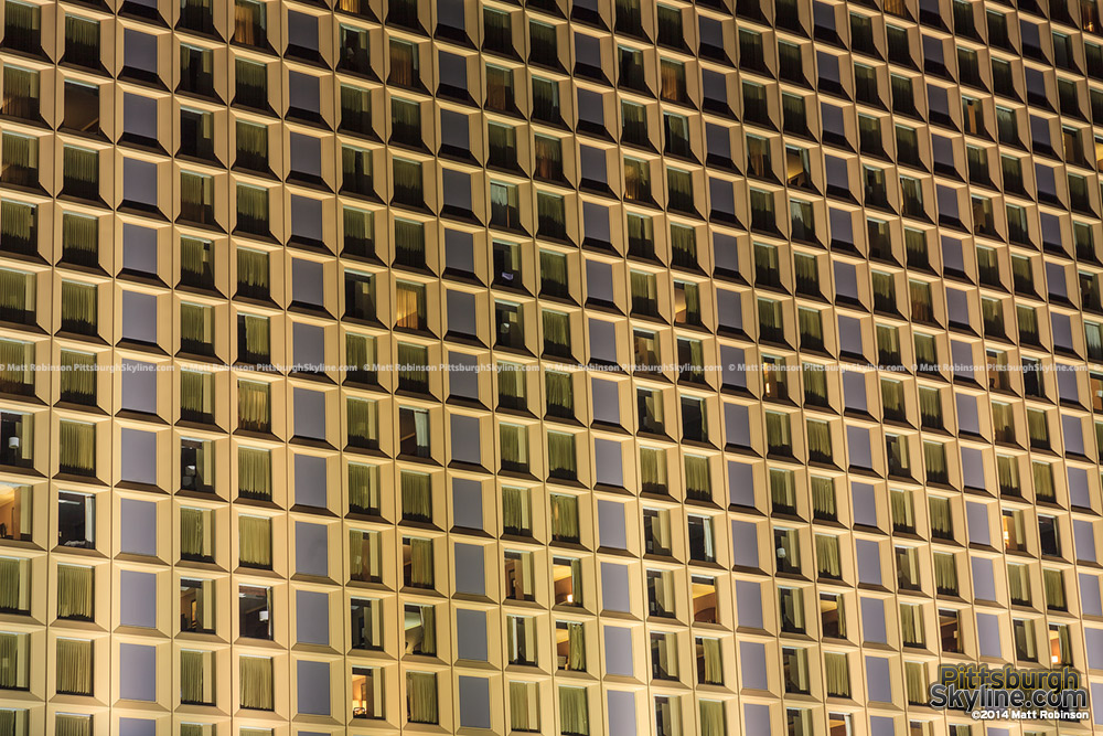 Windows of the Wyndham Grand in Pittsburgh