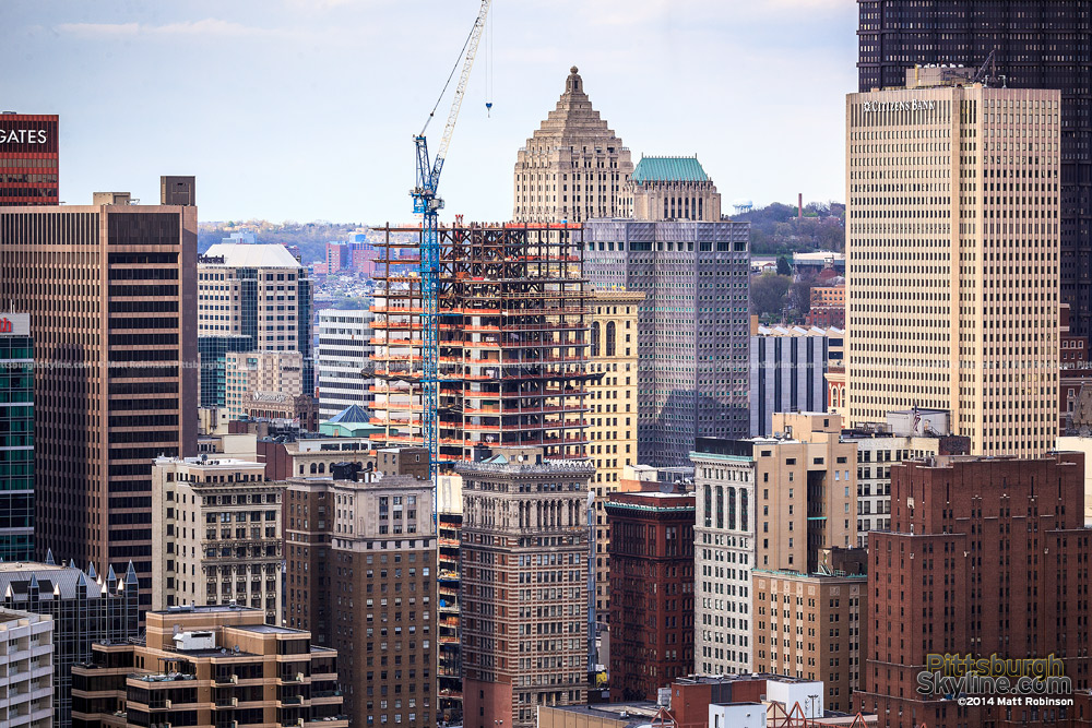 Tower at PNC Plaza rising in downtown Pittsburgh