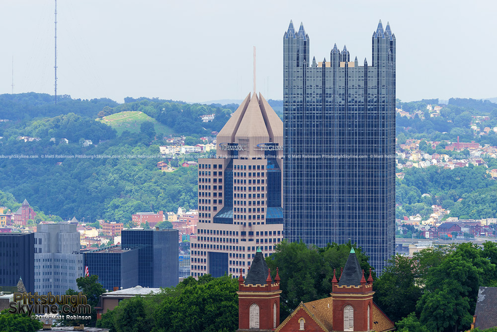 PPG Place and Fifth Avenue Place from Mt. Washington