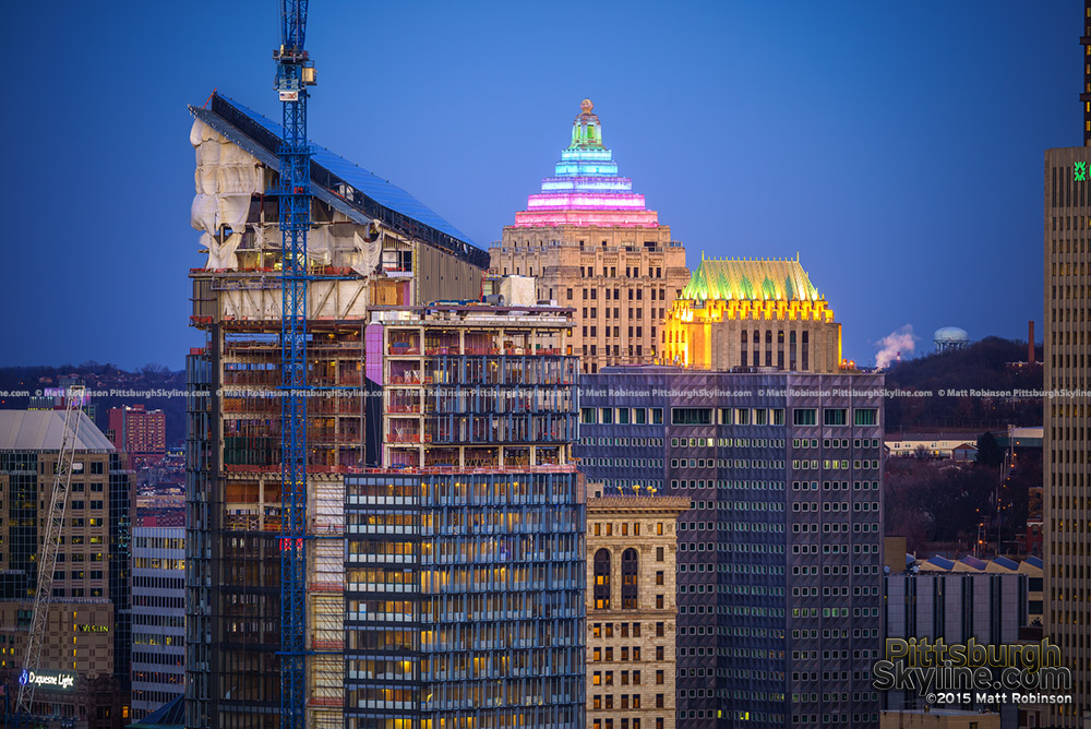 Tower at PNC Plaza with Koppers Building and Gulf Building