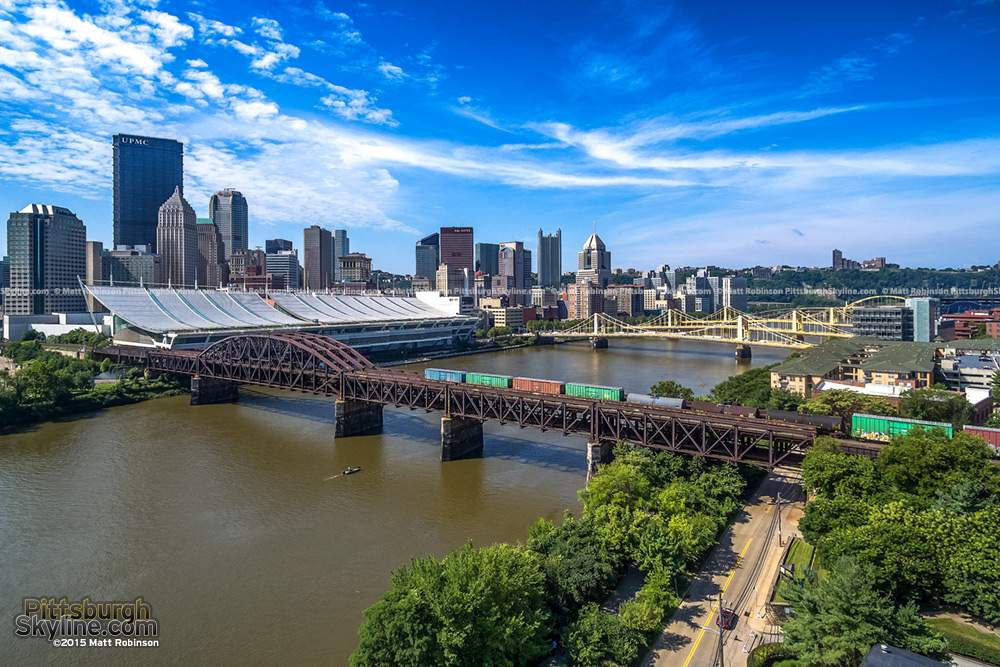 Pittsburgh aerial over the Allegheny River