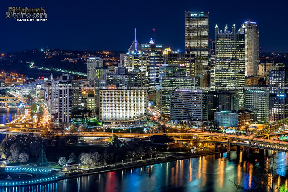 Pittsburgh Skyline on Light Up Night 2015