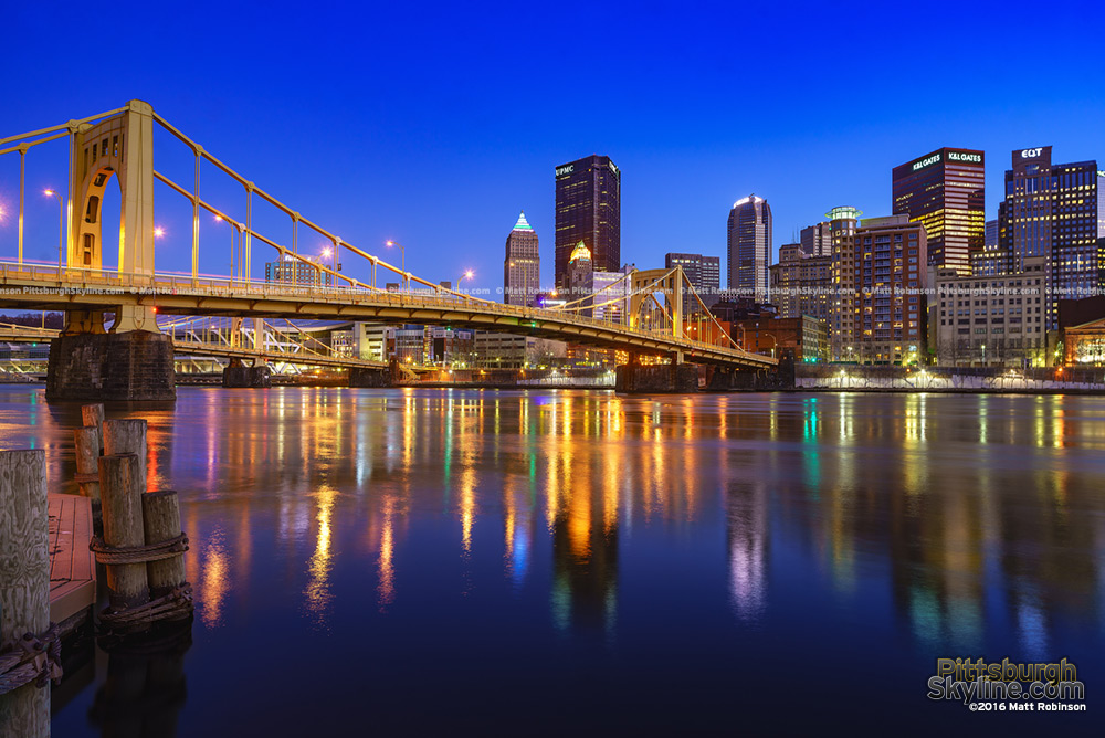 Andy Warhol Bridge with Pittsburgh