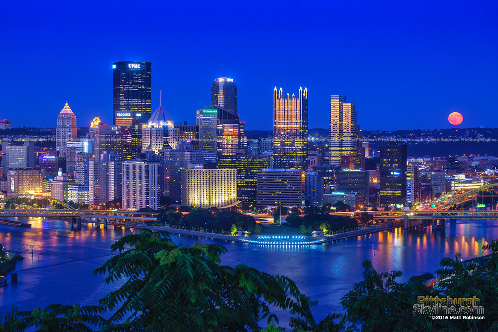 Moonrise over the Pittsburgh Skyline 2016