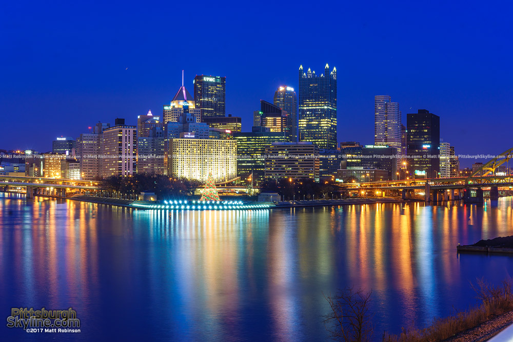 Downtown Pittsburgh Skyline at dusk